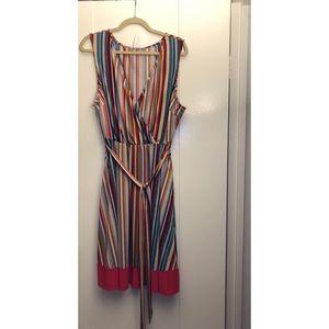Plus size striped summer dress